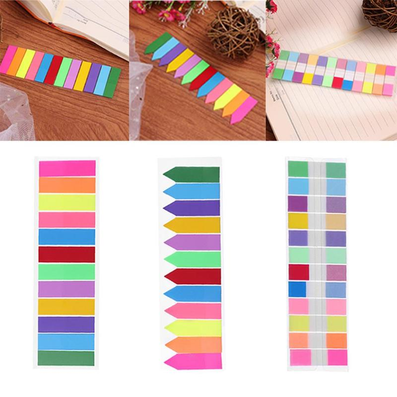240pcs 12Colors Index Memo Pad Stickers Sticky Notes Notepad N Times Label Paper Bookmark Sticker Stationry School Supplies Gift