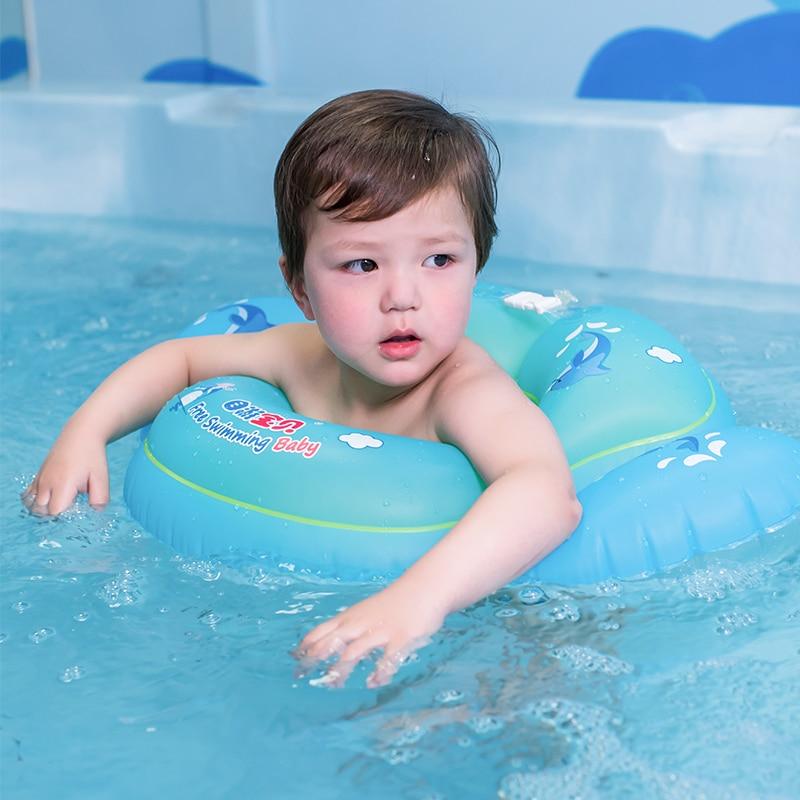 התינוק שוחה טבעת מתנפחים התינוק מותניים פעמיים איירבג ילדים בריכת שחיה אביזרים בטיחות רפסודה לצוף מתנפחים ילדים צעצועים