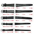 12mm 14mm 16mm 18mm 20mm Correa de Reloj Lagarto Pierna Genuinas Correa Fina de cuero Suave Negro Venda de Reloj Para Mujer Hombre relojes