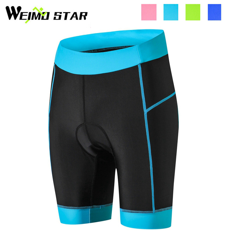 WEIMOSTAR Team Womens Pro Team Outdoor Ropa Ciclismo Cycling Shorts Gel Padded Riding Bicycle Short Pants Tights 4-Colors