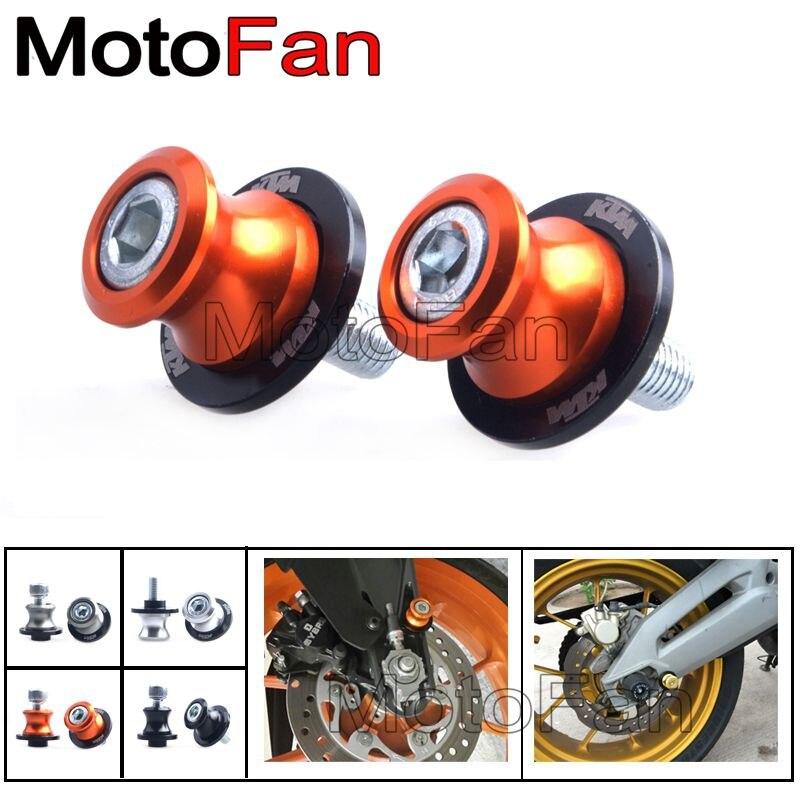 10mm Moto Bras Oscillant Bobines Stand Vis Curseur Bobines Pour KTM 690 DUC/DUKE R/SMC/SMC-R/LC4