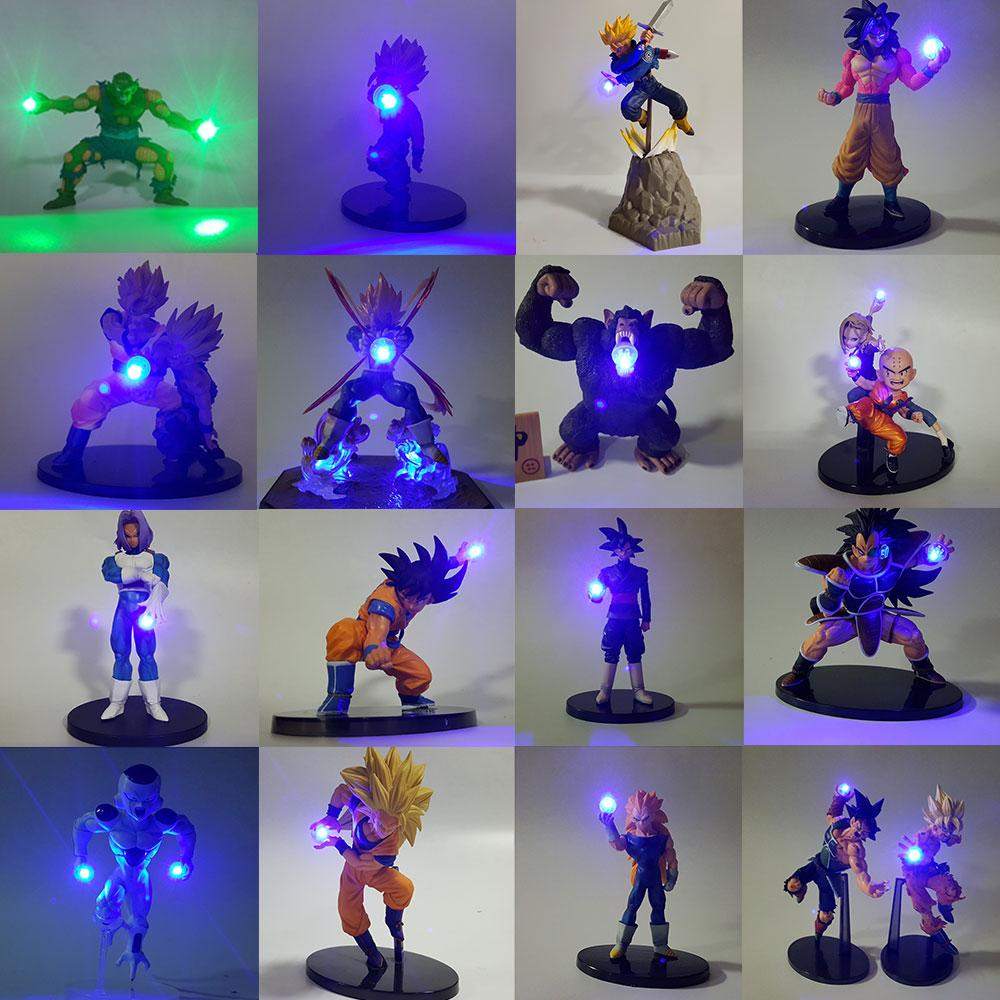 Dragon Ball Z Goku Vegeta Piccolo Trunks Freeza Figure LED Night Light Kamehameha Anime Dragon Ball Z DIY Decorative Led Light