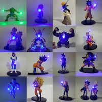 Dragon Ball Z Goku Vegeta Piccolo Tronchi di Freezer Figura LED Luce di Notte Kamehameha Anime Dragon Ball Z FAI DA TE Decorativo Led luce