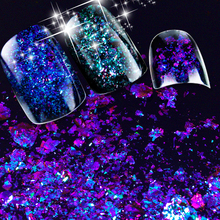 ZKO 2017 hot sell 1 box Chameleon Nail Sequins Glitter holographic powder Dust Dazzling Nails Nail Art Glitter Decorations