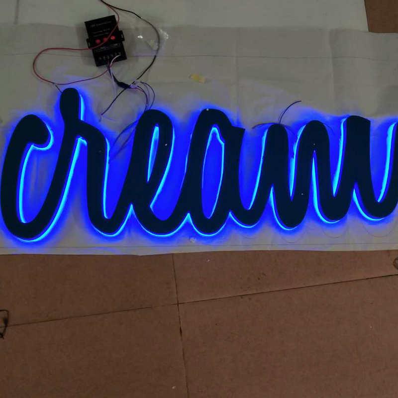 3D negócio led iluminado letras de canaleta