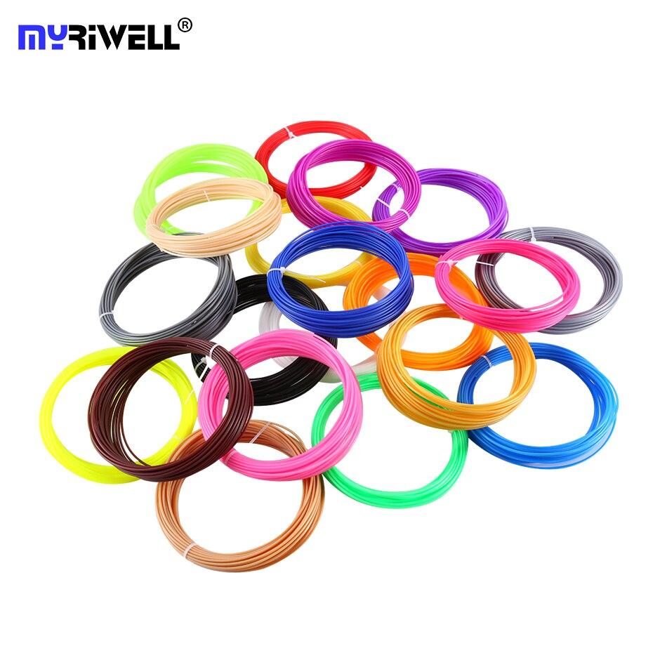 10 colores 50 m 3D filamento impresora ABS/PLA 1,75mm material plástico para 3D pluma doodler dibujo y impresión