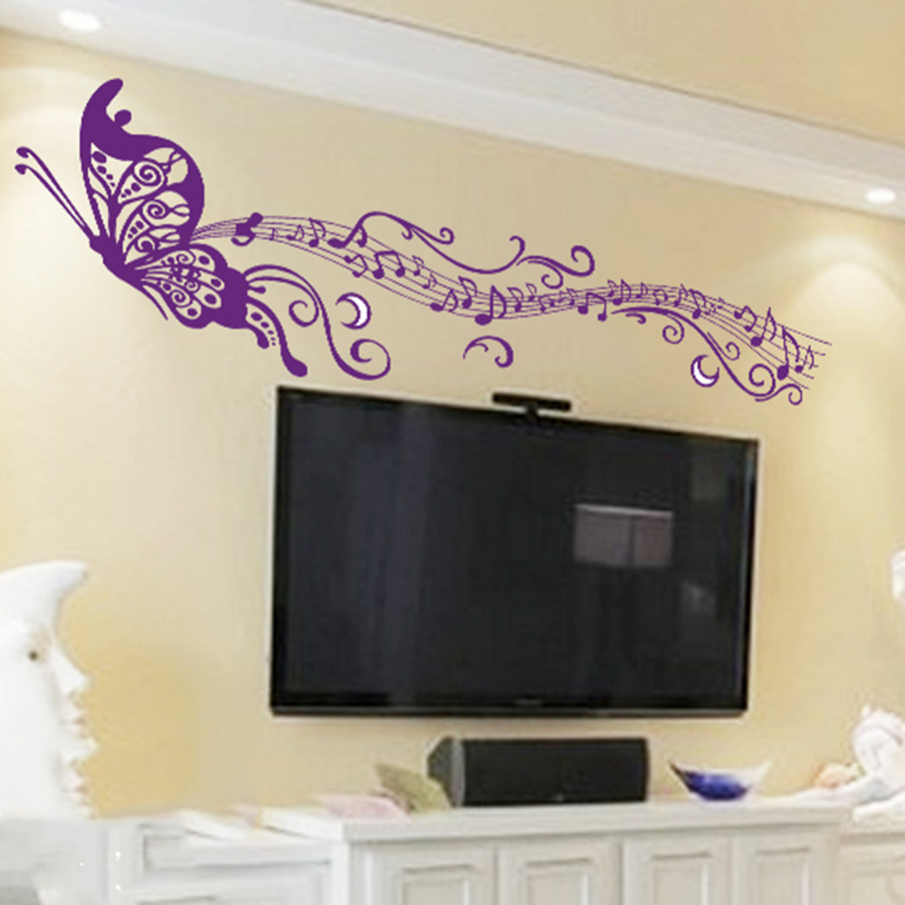 Diy Romantic Musical Notes Purple Purple Home Decor