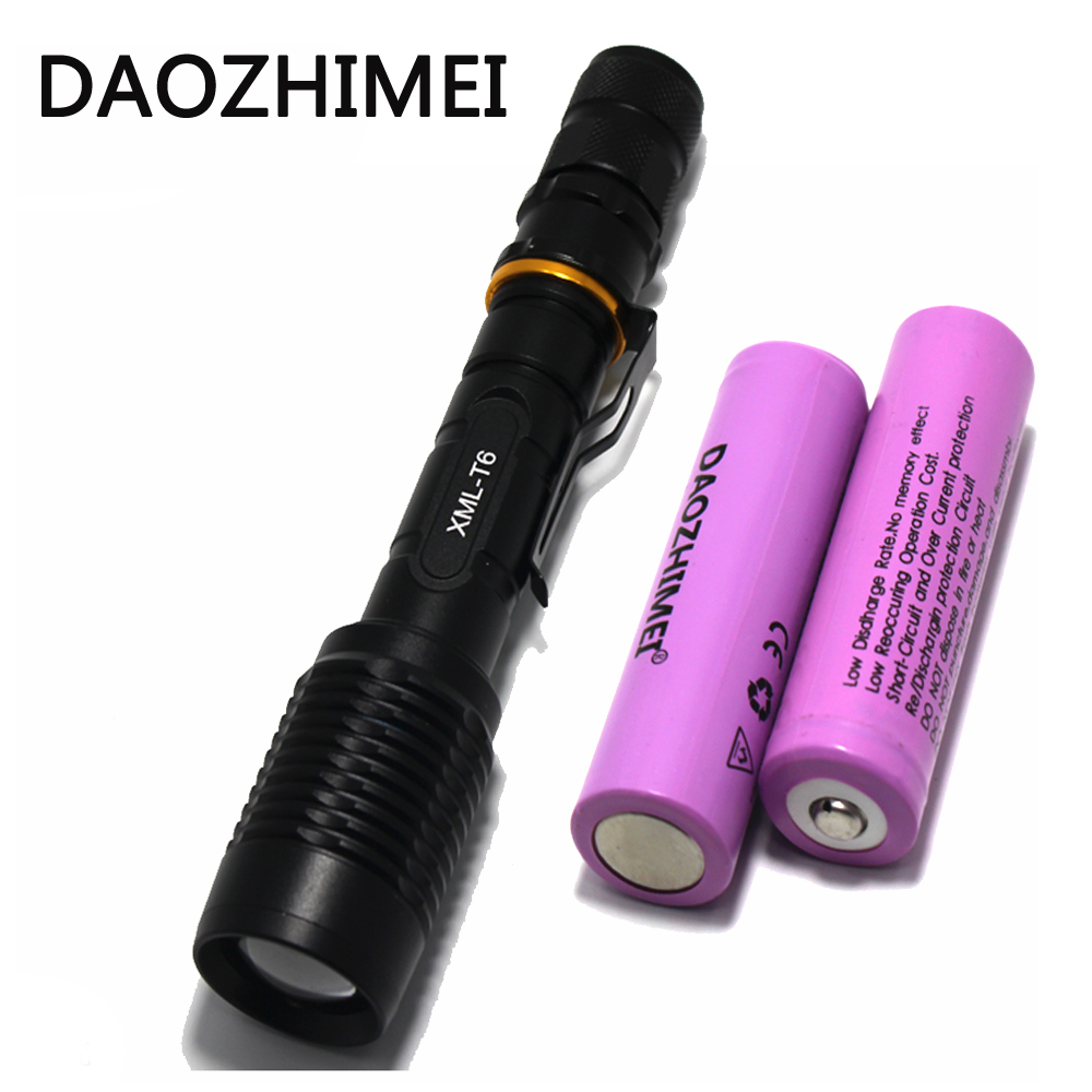 5000 Lumen Flashlight XM-L T6 LED Flashlight Torch Zoom Lamp Light+2x18650 Battery+EU/US/AU/UK Plug Charger for Hunting 20000 lumen 10t6 skyray tactical led flashlight 10xcree xm l t6 led torch lamp for hunting 4x18650 battery 2x chargers
