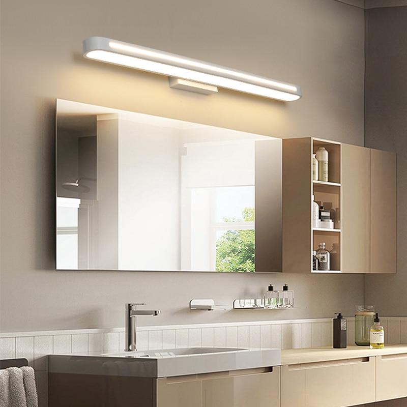 Modern led Wall lamps Bathroom Light LED Mirror Light Waterproof 400 700Length AC85 265V Acrylic Wall Lamp Bathroom Lighting-in LED Indoor Wall Lamps from Lights & Lighting