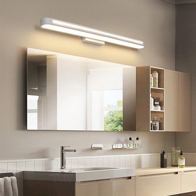 현대 led 벽 램프 욕실 조명 LED 미러 빛 방수 400 700Length AC85 265V 아크릴 벽 램프 욕실 조명