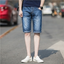 2016 summer new men's Denim Shorts five classic slim pants simple beach pants