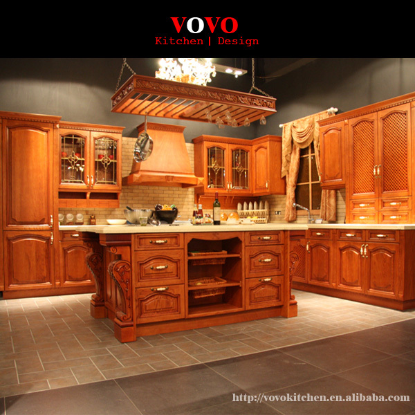 US $4599.0  Aliexpress.com : Buy Bespoke kitchen furniture solid wood style  from Reliable solid wood kitchen furniture suppliers on VOVOKITCHEN l ...