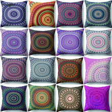 Hongbo Mandala Polyester Cushion Cover Bohemian Geometric Pillow Case Tai chi Home Decorative For Sofa Car almofada
