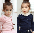 2017 spring children's clothes girls coats fashion ruffles long sleeve cotton baby girl cardigan coats for girls kids  outerwear