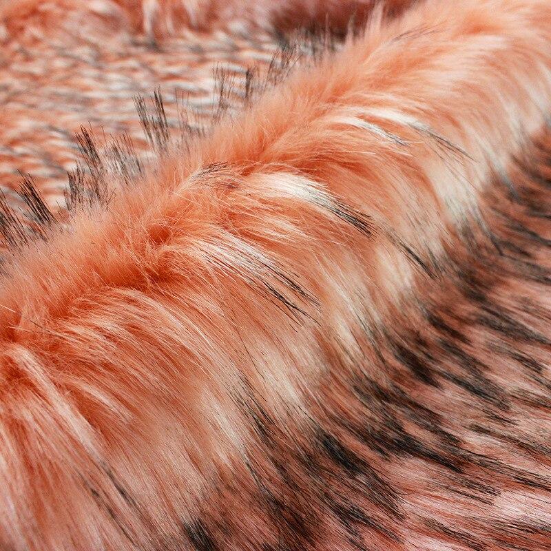 Faux fur meter wasbeer haar thuis tectile kleding tassen schoenen en hoeden pluche bekleding pluizige warmer dikke stof - 3