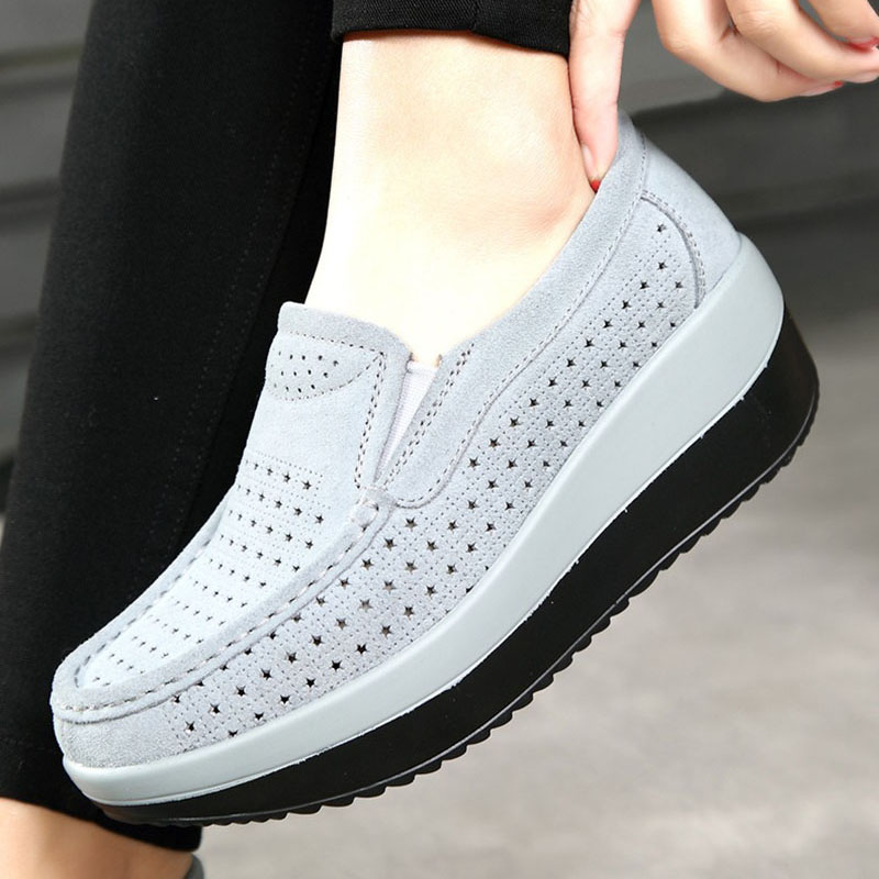 Top Quality Flat Shoes Women Solid Color Flats Handmade Slip On Breathable Loafers Retro Shoes Zapatos Mujer