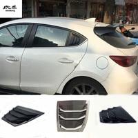 2pcs/lot ABS carbon fiber grain Rear window shutter c pillar shutter decoration cover for 2015 2017 Mazda 3