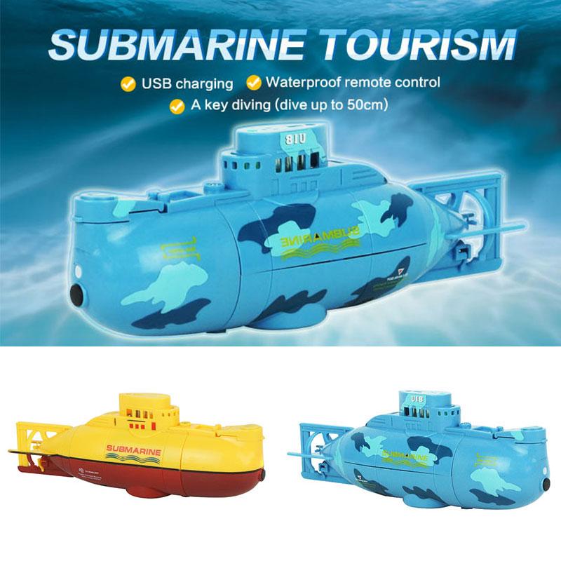 6CH High Speed Radio Remote Control Electric Mini RC Submarine Kids Toy