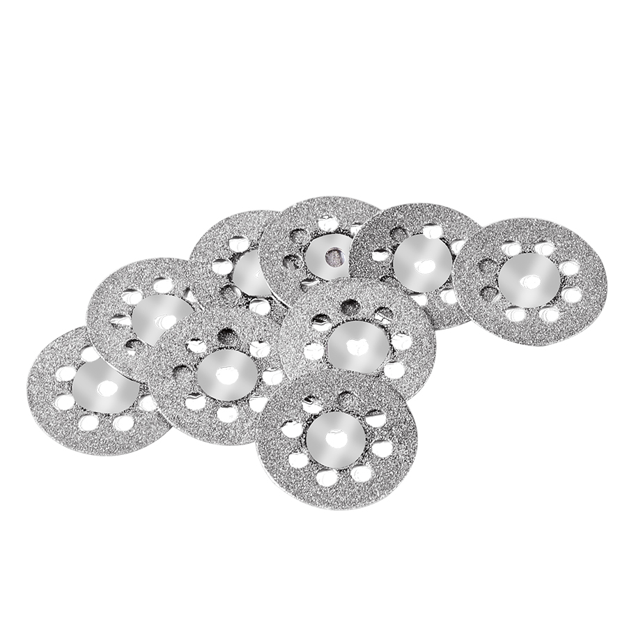 10pcs Double Side Cutting Discs Cut Off Blade Grinding Disc+2 Mandrel For Dremel Rotary Tools