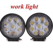 high quality 4inch 27W LED work light lamp round Flood beam   Off Road fog light ATV Tractor Train Bus Boat 4x4ATV