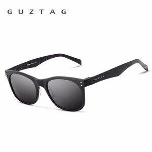 Image 4 - GUZTAG Sunglasses Aluminum Square Men/Women Polarized Mirror UV400 Sun Glasses Eyewear Sunglasses For Men oculos de sol G9201