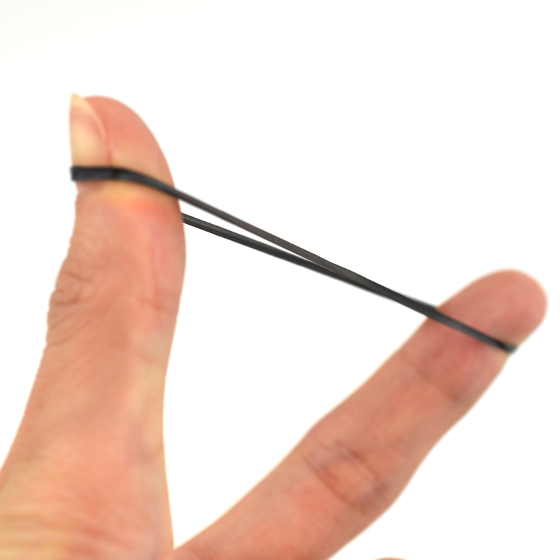 10g/0.35oz Black Flat Leather Rubber Bands High Quality School Office Not Easy to Pull Off Hair Braiders Tool Women DIY 30mm
