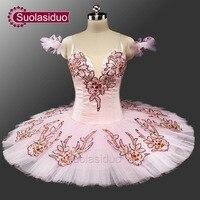 Pink Classical Ballet Tutu Adult Pancake Tutu Ballet Professional Ballet Tutus Pink Sleeping Beauty Tutu Costumes SD0047