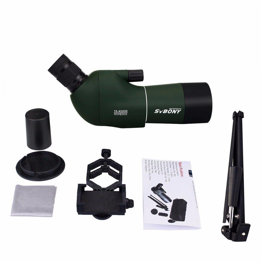 Svbone SV28 50/60/70mm longue-vue Zoom télescope étanche montre à oiseaux chasse monoculaire et universel adaptateur de téléphone MountF9308 - 6