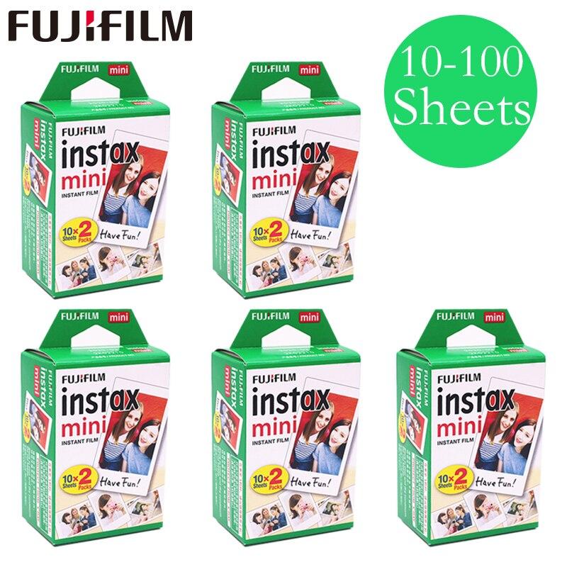 20-100 fogli Fuji Fujifilm instax mini 9 8 films Bordo bianco films per l'istante mini 9 8 7 s 25 50 s 9 90 Macchina Fotografica Carta fotografica Sp-2