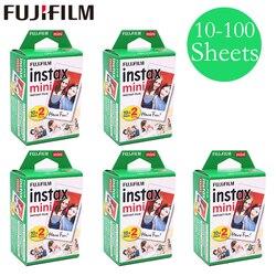 20-100 hojas Fuji Fujifilm instax mini 9 8 películas de borde blanco para instant mini 9 8 7s 25 50s 9 90 Cámara Sp-2 papel fotográfico