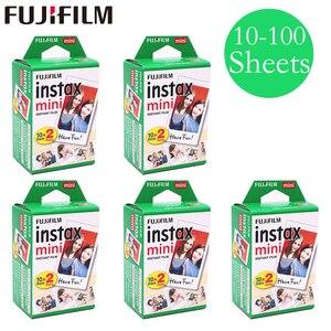 Image 1 - 20   100 ملاءات فوجي فوجي فيلم instax ميني 11 9 8 الأبيض حافة أفلام ل حظة البسيطة 9 8 7s 25 50s 9 90 كاميرا Sp 2 ورق الصور