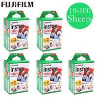 20 - 100 sheets Fuji Fujifilm instax mini 9 8 films white Edge films for instant mini 9 8 7s 25 50s 9 90 Camera Sp-2 photo Paper