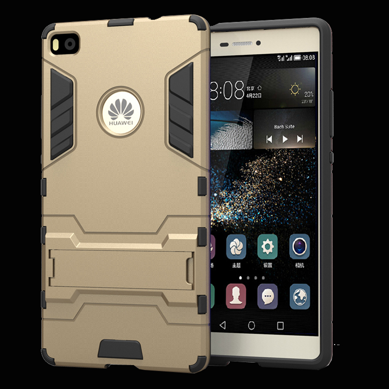 info for 0d5cb ac0f6 US $6.14 |Luxury Brand Hybird Armor Mobile Phone Case For Huawei Ascend P8  Case Hard Back Cover Silicon Quickstand P8 5.2 For Huawei Case on ...