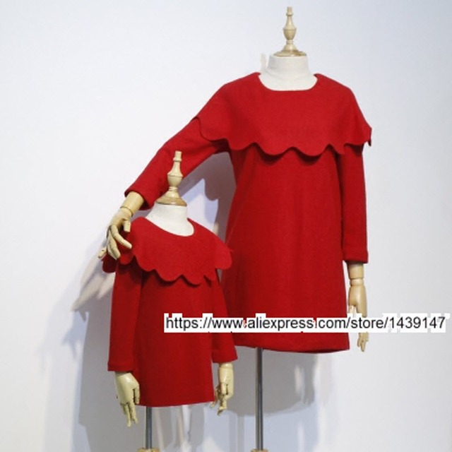 Children clothing Mother Daughter red shawl dress ,2-10 years old Child baby Girl Clothes , Women plus Large size 4XL L pregnant