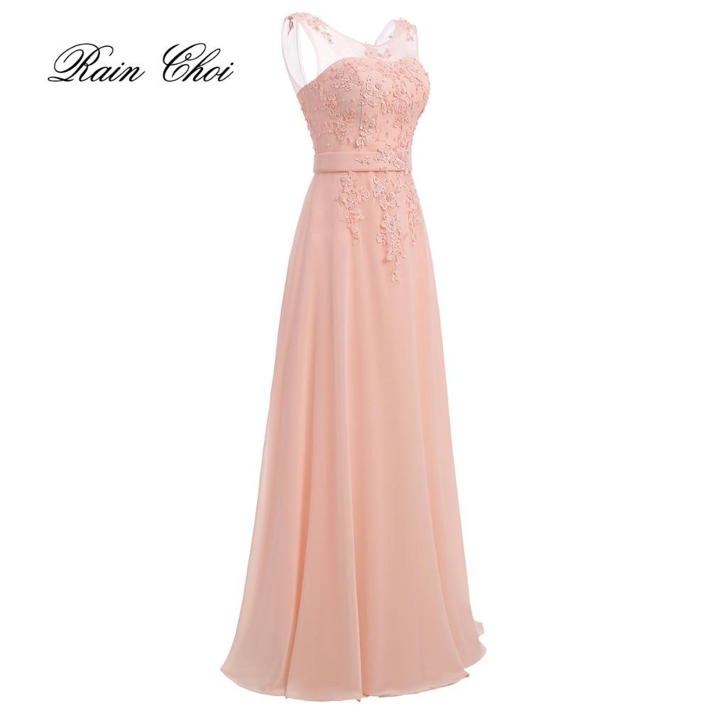 A-line Bridesmaid Dresses 2018 Maid of Honor Elegant Long Wedding Party Dress
