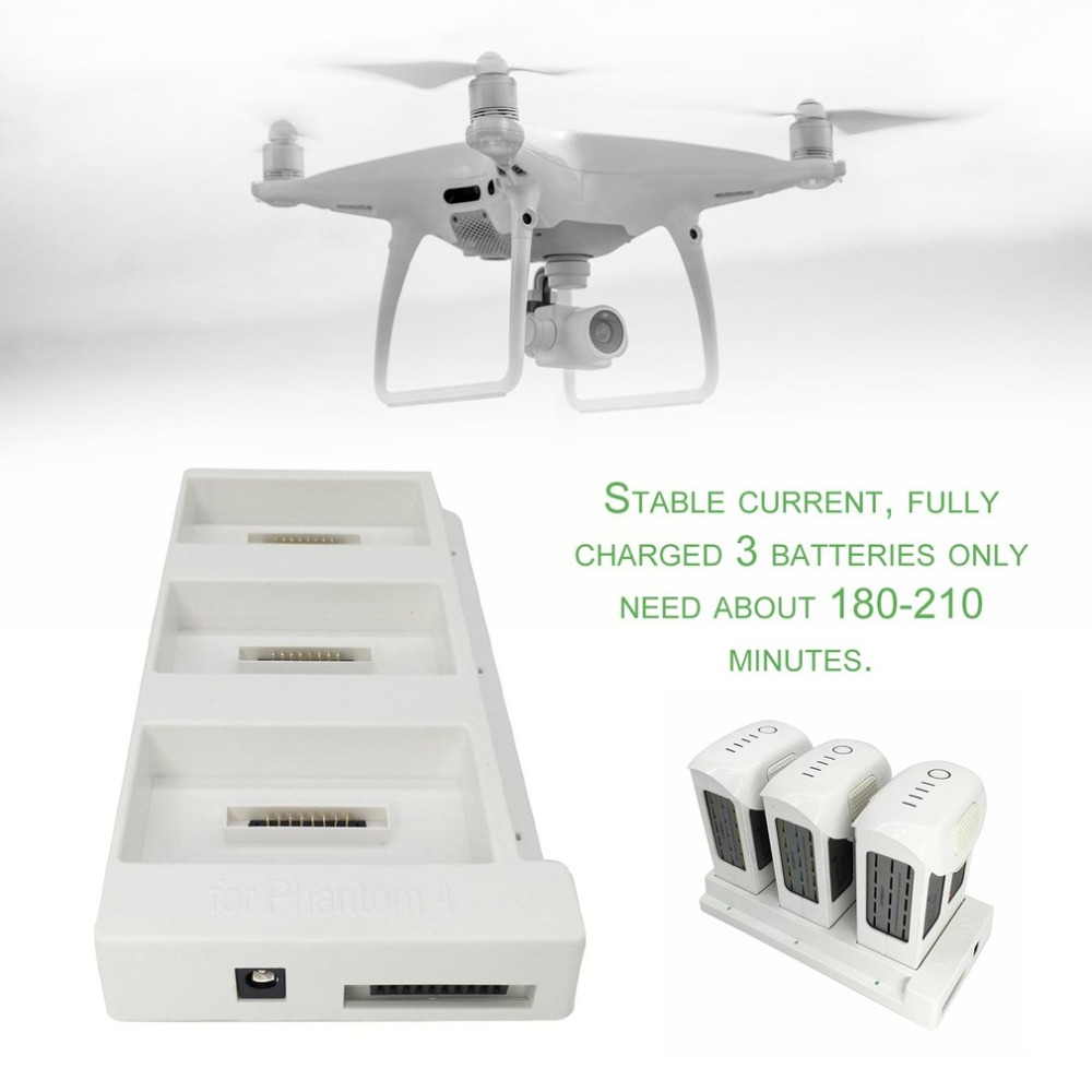 Multi Charging Hub Intelligent Drone Battery Charger for DJI Phantom 4 Pro 3-in-1 Charger Drone Accessories