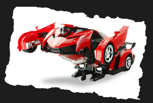 2 in1 RC Sports Car and Transformation Robots Models