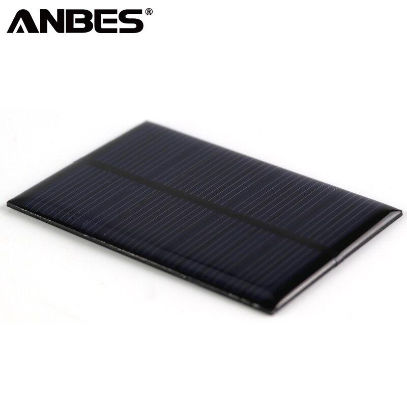 ANBES Панели солнечные 0,15 Вт 0,6 Вт 1 Вт 1,25 Вт 1,5 Вт мини солнечной Системы DIY для Батарея сотовый телефон зарядные устройства Портативный солнечн…