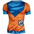 2017 Ball Z Hombres 3D Dragon Ball Z Camiseta Vegeta Goku Verano Estilo Jersey de impresión 3D de compresión de fitness short tees plus