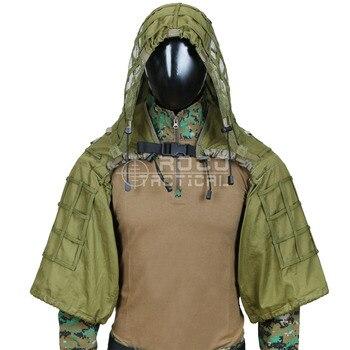 ROCOTACTICAL Militare Sniper Ghillie Suit Prodotti di base Leggero Ghillie Cappuccio Camouflage Militare Sniper Airsoft Ghillie Giacca
