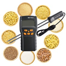 Big discount MD7822 Wide LCD Screen Digital Grain Moisture Black Temperature Instruments Temperature Measuring Probe