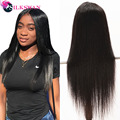SilkSwan Brazilian Lace Front Human Hair Wigs Straight Virgin Hair Pre Plucked With Baby Hair 28 30 Inch 32 34 36 Inch For Women