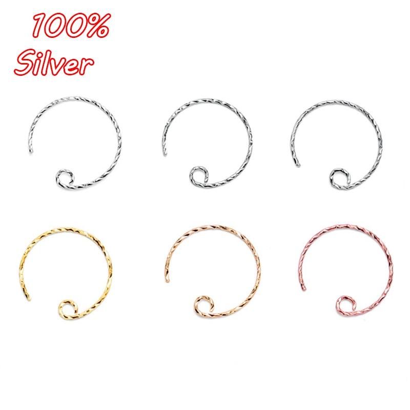 Wholesale Beads Jewelry Findings Speaker Shape Hook Earwire Silver Plate Deisign