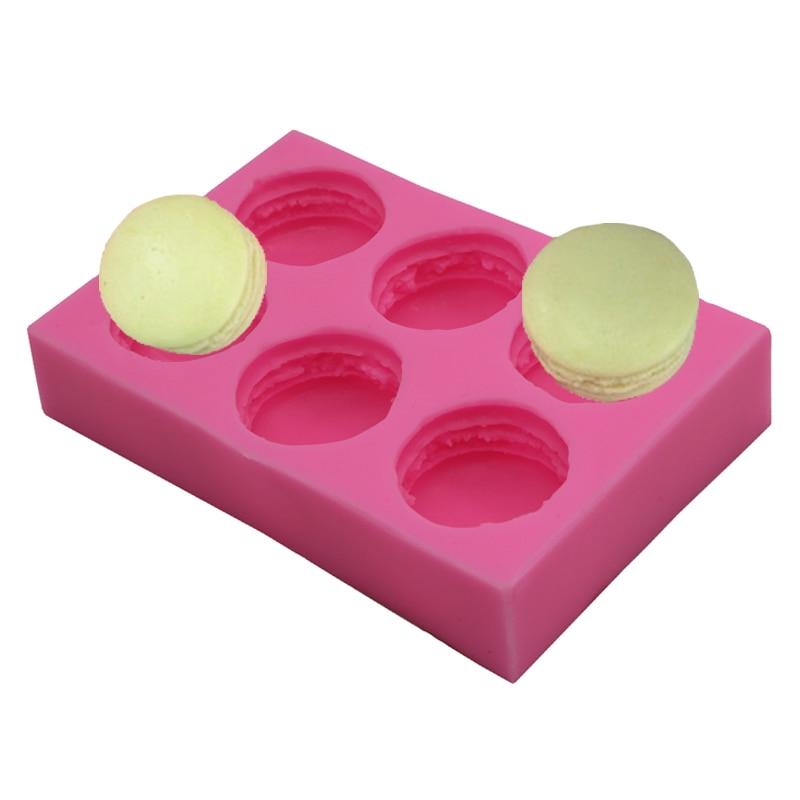 Форма Макарон с 6 ячейками, 3d форма для бургеров и мыла, украшение для торта, форма для шоколада, «сделай сам», форма для печенья, мыла