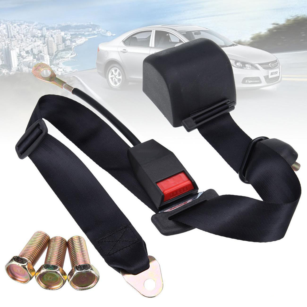 Ceinture de sécurité de voiture lonbond ceinture de sécurité réglable ceinture de sécurité rétractable automatique universelle à 3 points