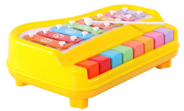 Livros infantis pequenos pilotos de arrastar bater o piano infantil brinquedos do bebê musical puxar oitava Xiaoqin
