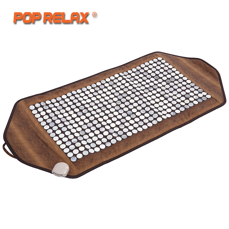 POP RELAX stone heating massage mat health care far infrared thermal physical therapy body pain relief jade stone mat mattress 2016 wholesale massage bed jade stone mattress jade far infrared jade mattress massage mat 1 2 1 9m free shipping