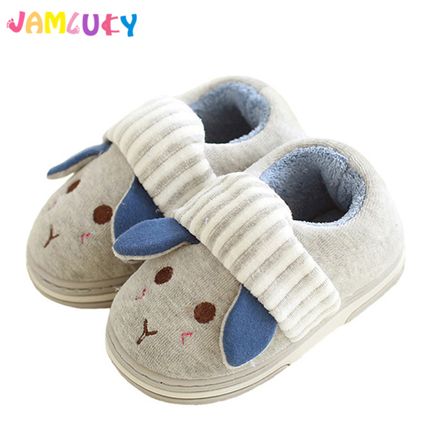 Winter Kids Slippers Boys Girls Household Cotton Shoes Cartoon Cute ...