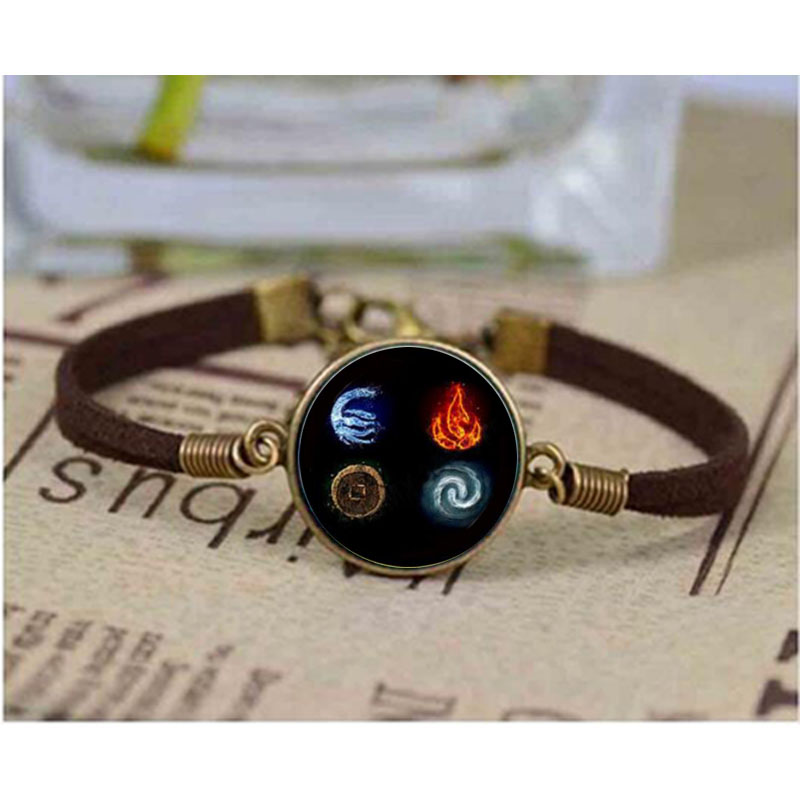 Cartoon Avatar Last Airbender Glass Dome bracelet DIY Jewelry Accessories Vintage Gift for Men Bangle