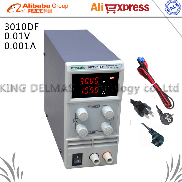 LED Digital Adjustable DC Power Supply ,0~30V 0~10A ,110V-220V, Switching Power supply 0.01V/0.001A mA display cps 3010ii 0 30v 0 10a low power digital adjustable dc power supply cps3010 switching power supply